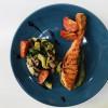 Стейк лосося з овочами під соусом песто Грін Пицца (Green Pizza)