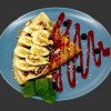 Млинець с бананом та шоколадом PizzaBIX (ПіцаБІКС)