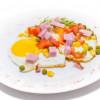 Яєчня з овочами і шинкою Диканька